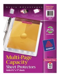 Multi-Page Capacity Sheet Protectors 74172, Packaging Image
