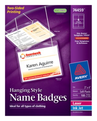 Insertable Name Badges 74459