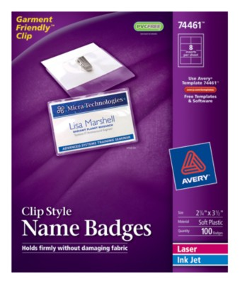 Top Loading Insertable Name Badges 74461
