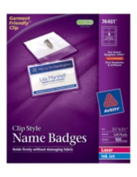 Top Loading Insertable Name Badges