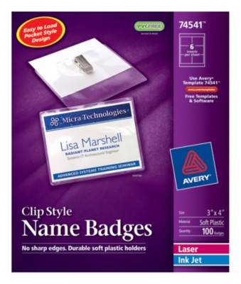 Top Loading Insertable Name Badges 74541