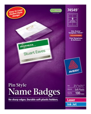 Top Loading Insertable Name Badges 74549