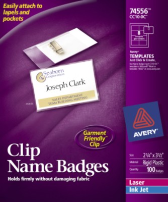Side Loading Insertable Name Badges 74556