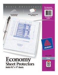 Economy Weight Sheet Protectors 75182, Packaging image