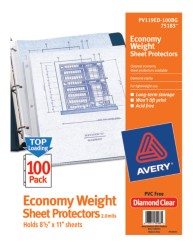 Economy Weight Sheet Protectors 75183, Packaging Image