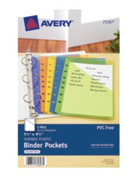 "5-1/2"" x 8-1/2"" Binder Pockets Packaging Image"