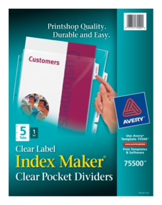Index Maker View Divider with Clear Labels 75500