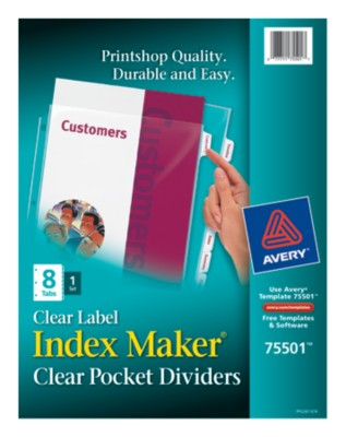 Index Maker View Divider with Clear Labels 75501