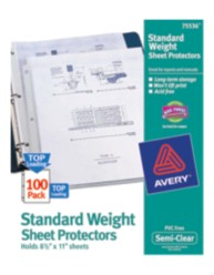 Standard Weight Sheet Protectors 75536, Packaging Image