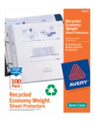 Economy Weight Sheet Protectors 75537, Packaging Image