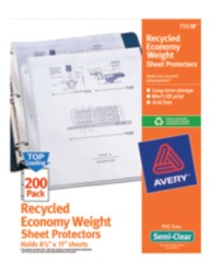 Economy Sheet Protectors 75538, Packaging Image