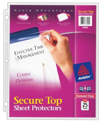 Secure Top Sheet Protectors 76000