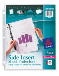 Side Insert Sheet Protectors