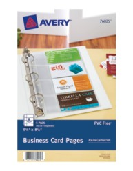 "Business Card Pages for 5-1/2"" x 8-1/2"" Binders Packaging Image"