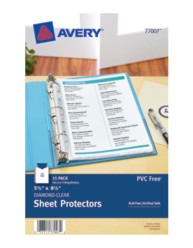 Heavyweight Sheet Protectors 77007, Packaging Image
