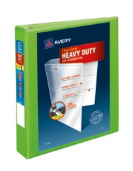 "Avery® Heavy-Duty View Binder with 1-1/2"" One Touch EZD Rings 79773, Chartreuse"