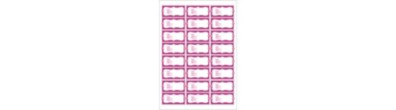Address Labels | 24 per page | Pink Ribbon Address Labels, Elegant