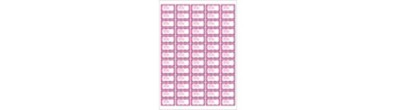 Mini Address Labels | 65 per page | Pink Ribbon Address Labels, Elegant