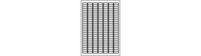 Etichette in poliestere argento - 189 per foglio