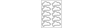 Gedachte Stickers - 10 Etiketten per vel - Staand