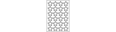 Stervormige Stickers - 24 Stickers per vel - Staand