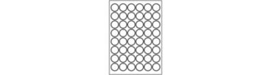 Etichette in poliestere rotonde - Argento- 40 TV, 30 x 30 mm