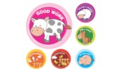 Merit Stickers, Farm Animals, 96/Pack