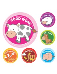 Merit Stickers Farm Animals