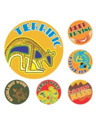 Merit Stickers Aussie Art