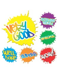 Merit Stickers Paint Splats