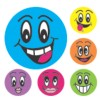 Merit Stickers, Smiley Faces, 102/Pack