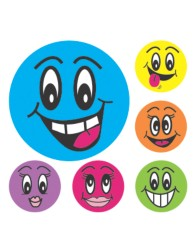 Merit Stickers Smiley Faces