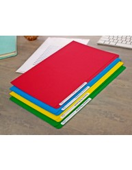 Assorted Manilla File with 1 Sheet of 24 Laser File Title Labels