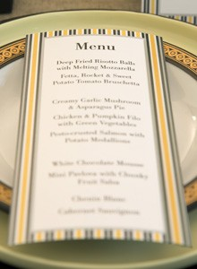 Create menus with Quick & Clean Compliment Cards