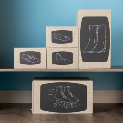 Erase and reuse Avery Chalkboard Labels when the contents inside change.