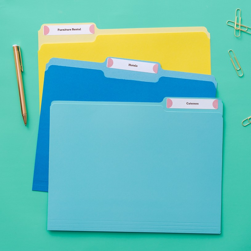 Create color-coded custom Avery File Folder Labels in Avery Design & Print