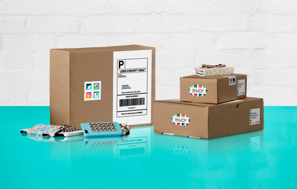 Use custom shipping and mailing labels to promote your brand every time you send.