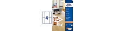 Tentkaarten, microperforatie, Inkjet printer, Kleurenlaser printer, Kopieerapparaat, ZW/W Laser printer, 185 g/m², A4