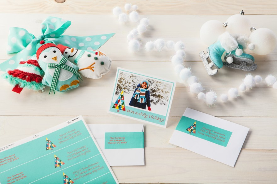 Holiday cards and labeling ideas