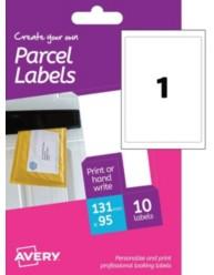 Etichette bianche per pacchi  -stampanti Laser e Inkjet- 95x131mm -10ff