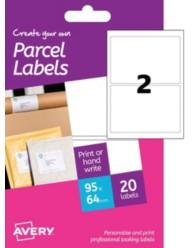 Etichette bianche per pacchi  - stampanti Laser e Inkjet - 64x95 mm - 10 ff