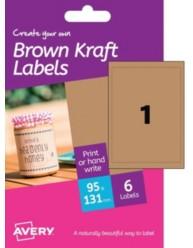 Etichette effetto cartone -rettangolari -stampanti Inkjet- 95x131mm -6ff