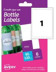 Etichette per bottiglie di vino- rettangolari - stampanti Laser e Inkjet - 90x120mm- 12 ff
