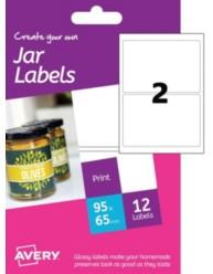 Etichette glossy per barattoli - stampanti Inkjet -64x95mm -6ff