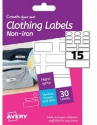 Etichette per tessuti applicabili senza ferro da stiro -scrivibili a mano- vari formati-2 ff