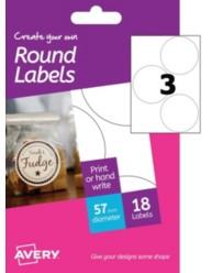 Etichette bianche rotonde - stampanti Laser a colori - Ø 57 -6 ff