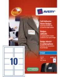 Badge adesivi flessibili, 80 x 50 mm, stampanti Inkjet