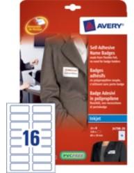 Badge adesivi flessibili, 80 x 30 mm, stampanti Inkjet