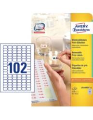 L3410REV-25 White Price Labels