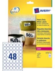 Etiquettes ultra-résistantes blanches, Ø 30 mm